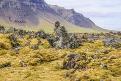 iceland powulkaniczny krajobrazowy Obraz Royalty Free