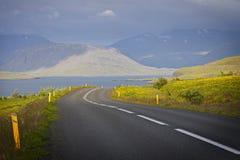 Iceland: Pusta droga Fotografia Royalty Free