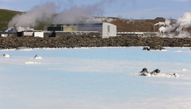 Iceland. Reykjanes Peninsula. Blue Lagoon. Geothermal Spa. Grind Stock Images