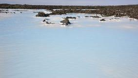 Iceland. Reykjanes Peninsula. Blue Lagoon. Geothermal Spa. Grind Royalty Free Stock Image