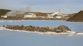 Iceland. Reykjanes Peninsula. Blue Lagoon. Geothermal Spa Stock Photography