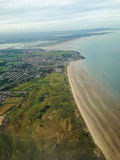 Ireland. Malahide. Aerial view of the northeastern coast of Eire, near the town of Malahide Royalty Free Stock Photography