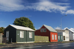 Iceland reykjavik colourful urban houses Stock Images