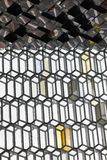Iceland. Reykjavik. Harpa Concert Hall. Facade detail. Royalty Free Stock Photo