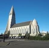 Iceland, Reykjavik, Sierpień 3, 2016: Reykjavik Hallgrimskirkja vi zdjęcia stock