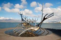 iceland reykjavik solfar sunvoyager Arkivbild