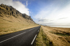 Iceland ring road. Scenic drive on the southern side of Iceland along Ring Road Royalty Free Stock Photography