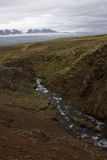 Iceland. River flowinig in a highlands in Iceland Royalty Free Stock Images