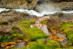 Iceland river geology. Colors of geology iceland river Royalty Free Stock Photo