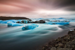 Iceland river ice Stock Photos
