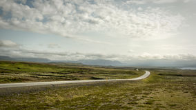 Iceland road. Highway N°1 in Iceland near Thingvalla stock photography