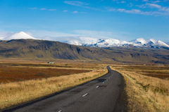 Iceland road in national park Stock Photos