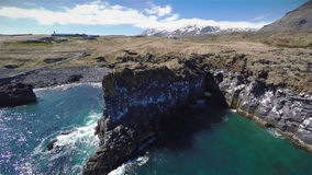 Iceland Rock Volcano stock video footage