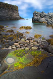 Iceland rocky coast landscape Royalty Free Stock Photography