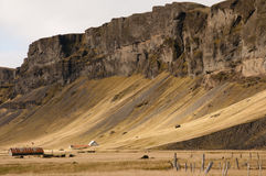 Iceland rural cliff Royalty Free Stock Images