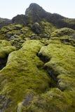 iceland Södra område Lakagigar vulkanisk liggande arkivbild