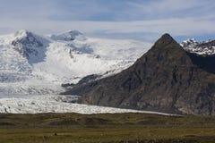 Iceland`s largest glacier Vatnajokull. Stock Images