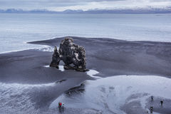 Iceland`s Massive Elephant cliff On the island of Heimaey in Southern Iceland