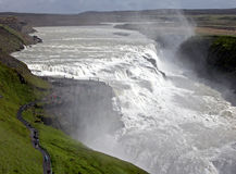 Iceland's most famous waterfall Gullfoss Stock Images