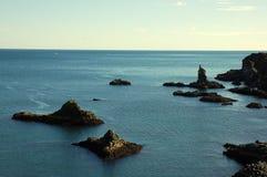 Iceland seashore. Rocky coast on North seashore of Iceland Royalty Free Stock Photography