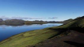 Iceland See nahe durch Landmannalaugar stockbild