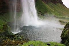 Iceland - seljalandsfoss waterfall Royalty Free Stock Photos