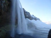 iceland seljalandsfossvattenfall royaltyfri fotografi