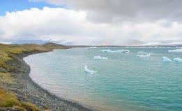 Iceland - September , 2014 - Jokulsarlon glacial lagoon / glacier lake, Iceland. Jokulsarlon is a large glacial lake in southeast Royalty Free Stock Image