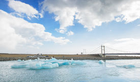 Iceland - September , 2014 - Jokulsarlon glacial lagoon / glacier lake, Iceland. Jokulsarlon is a large glacial lake in southeast Royalty Free Stock Images