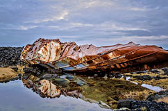 Iceland Shipwreck Royalty Free Stock Photo