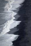 Iceland shoreline. The shoreline (lava sand) in Dyrholaey, Iceland stock photo