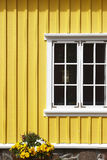 Iceland. Siglufjordur. Traditional islandic wooden facade Royalty Free Stock Photography