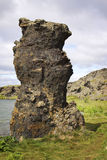 Iceland: Single lava pillar Stock Photography