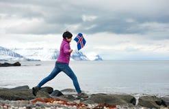 Iceland single traveller Stock Photo