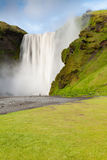 Iceland skógafoss with photographer Royalty Free Stock Photography