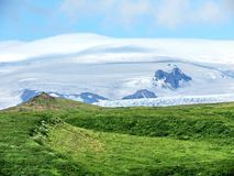 Iceland Skaftafell National Park the view of mountains 2017. The view of mountains in Skaftafell National Park in Iceland, July 7, 2017 Royalty Free Stock Image