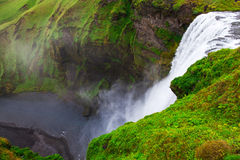 Iceland, Skogafoss waterfall in a rainy day Stock Image