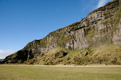 Iceland slanted cliff Royalty Free Stock Photography