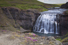Iceland: Small water fall Stock Photo