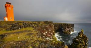 Iceland. Snaefellnes Peninsula. Krossnes. Royalty Free Stock Photo