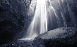 Iceland. South area. Eyjafjalajokul zone. Waterfall nearby Seljalandsfoss waterfall. stock photo