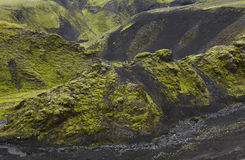 Iceland. South area. Fjallabak. Volcanic landscape. Stock Photography