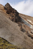 Iceland. South area. Fjallabak. Volcanic landscape with rhyolite Stock Images