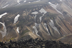 Iceland. South area. Fjallabak. Volcanic landscape with rhyolite Stock Image