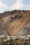 Iceland. South area. Fjallabak. Volcanic landscape with rhyolite Royalty Free Stock Image