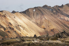 Iceland. South area. Fjallabak. Volcanic landscape with rhyolite Stock Photo