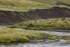 Iceland. South area. Fjallabak. Volcanic landscape. Royalty Free Stock Photo