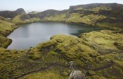 Iceland. South area. Lakagigar. Tjarnargigur. Volcanic crater wi Stock Images