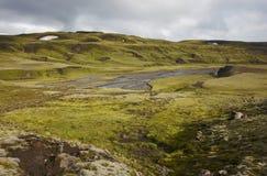 Iceland. South area. Lakagigar. Volcanic landscape. Stock Images