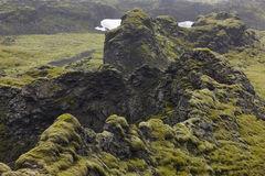 Iceland. South area. Lakagigar. Volcanic landscape. Royalty Free Stock Images